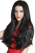 Annabelle's Wigs Black, Extra Long Wavy 3/4 Or Half Wig Hairpiece Extension