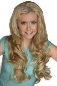 Blonde, Wavy, Half Wig Or 3/4 Wig Hairpiece Extension