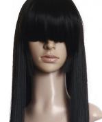 Cosplayland C822 - 80cm Straight voluminous 3-Layered Lady Gaga BOB Cut (Jigoku Shojo - Enma Ai) Wig - Black