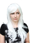 Cosplayland C437 - Lamento Rai 70cm Layered Show White Carnival Party Wig