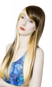 Cosplayland C428 - 75cm Brown - Blond straight fairy Theatre Culico Fashion Wig