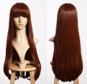 Cosplayland C865 75cm Straight Volume Thick Line Bang long brown Wig