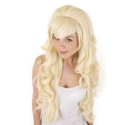 Extra Long Blonde Curly Volume Wig | Backcombed Volume Crown | Cosplay Lolita Wig