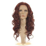 Lace Front Wig | Deep Red Long Full Curly Wig | Inspired by Kate Beckinsale |