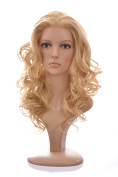 Long Lace Front Curls Holly Wig | Human Hair Blend | 3 Blonde and Red Shades