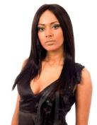 Sleek Lace Front Wig -Diva Swiss Net 100% Human Hair 1b- Natural Black