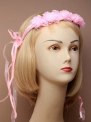 Pink Bridal / Flower Girl Headdress, Headband
