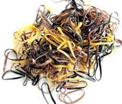 Pack of 250 Small Mini Hair Elastics Polyurethane Braiding Bands for Dreads Cornrows Braiding