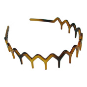Bling Online Zig Zag Tortoise Shell Effect Sharks Tooth Hair Band Headband.