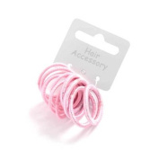 12 Girls Pink Small Hair Elastics/Bands IN9925