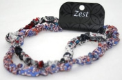 2 Pack Elasticated Headbands Paisley Abstract Designs Hair Accessories by Zest