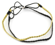 2 Pack Gold & Black Plaited Headband Hair Accessories by Zest