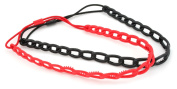 2 Pack Red Black Chunky Chain & Grips Headbands Hair Accessories by Zest