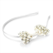 Crystal & Faux Pearl Cream Bow Headband/ Alice Band/ Hair Band