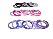 7 Girls Black Grey White Small Hair Bands EA1453