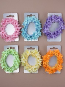 Blue Fabric Flower Hair Band IN9414