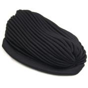 Full Head Turban Headwarp Indian Style Bandana Hat Cover Hair Loss Chemo Or Fashion Use Black