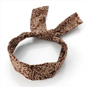 Brown Paisley Wired Headband AJ23298