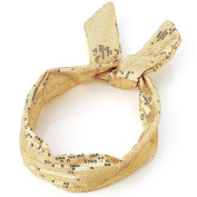 Gold Sequin Wired Headband AJ24946