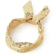 Gold Sequin Wired Headband AJ24946