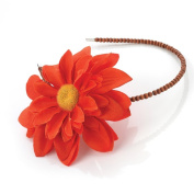 Orange Daisy Wooden Alice Band AJ23381