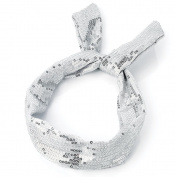 Silver Sequin Wired Headband AJ24945