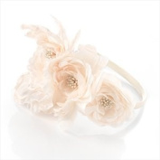 HA23247 Ivory Flower Headband Wedding Party Prom