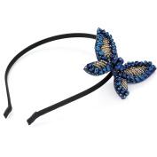 Blue Beaded Butterfly Alice Band AJ24870