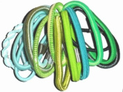Glitz4Girlz Multi-Pack Hair Elastics - Green