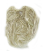 Super Fake Hair Scrunchy On A Ponio Loop. Large Size - Light Blonde.