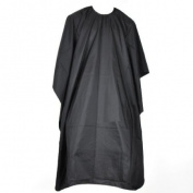 Accessotech Professional 145x120cm Salon Hair Cut Hairdressing Barbers Cape Black Gown