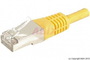 Dexlan 0.15m Cat6A RJ45 FTP Patch Cable - Yellow