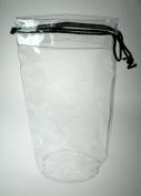 Comby Large Clear (Black Trim) Drawstring Bag - DENBG310