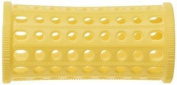 PLASTIC HAIR ROLLERS YELLOW Pk10 x 30mm + FREE PINS