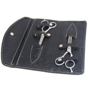 """6"""" Hairdressing Set - Professional Hair Cutting Scissors & Thinning Scissors Shears + Black Leather Case - Case size"""
