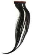 Qwik X 100 Percent Indian Remi Human Hair Tape Hair Extensions Colour 1 Jet Black 41cm