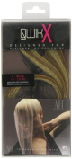 Qwik X 100 Percent Indian Remi Human Hair Tape Hair Extensions Colour 10/ 22 Medium Ash Brown/ Beach Blonde 41cm