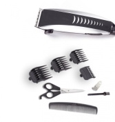 Pivot Motor Deluxe Hair Clippers Adjustable Blade Length with Scissors Guards Oil and Comb