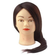 BEIYI 60cm Long 70% Real Hair Hairdressing Training Practise Mannequin Head Clamp