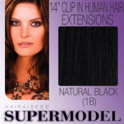 Supermodel Clip In Human Hair Extensions 14 -inch Colour Natural Black
