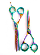professional Hairdressing scissors Titanium Hair Salon Scissors & Thinners Gift Set