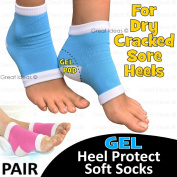 Gel Heel Protection Socks - Relieves Pain by Reducing Friction Over the Heel - CHOOSE YOUR COLOUR