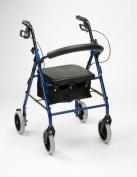Drive Medical R8RD-23 Lightweight Aluminium Padded Seat Rollator Red