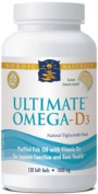 Nordic Naturals Ultimate Omega-D3 - Lemon - 120 Softgels
