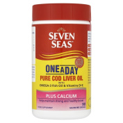 Seven Seas One A Day Pure Cod Liver Oil Plus Calcium 90 Capsules