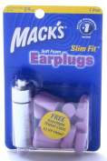 Macks Slim Fit Purple Ear Plugs - 7 Pairs w Aluminium Case