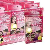 10 x BRA STRAP SET SOLUTION HOLDER CLIPS CONCEALER BOOB CLEAVAGE LIFT BLACK