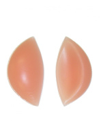 SODACODA Crescent Silicone Inserts Chicken Fillets Breast Enhancers For Bras Swimsuits and Bikini - Create maximum cleavage suitable for A, B, C and D Cups - Skin Colour 180g/pair - High Quality Product