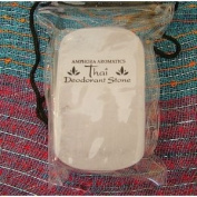 Thai Deodorant Stone 160g, packed in a drawstring pouch - by Amphora Aromatics - sold by Spiritual Gifts. Usually dispatched within 2 working days.