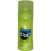 Ban Roll-On Antiperspirant Deodorant, Powder Fresh, 100ml